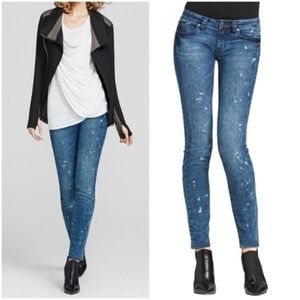 CAbi 920 Acid Wash Denim Skinny Jeans Size 2